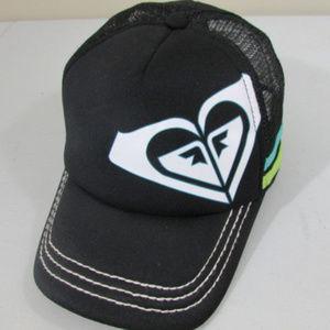 Roxy Adjustable Snap Back Mesh Hat Black